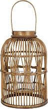 Farolillo de bambú trenzado marrón Alt.43