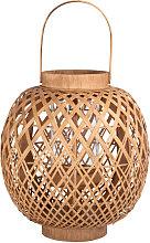 Farolillo de bambú trenzado