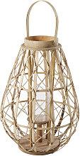 Farolillo de bambú y cristal
