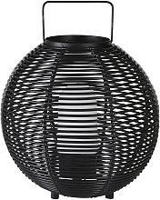 Farolillo luminoso de exterior trenzado negro