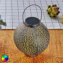 Farolillo solar LED RGB Dunjaris, cobre