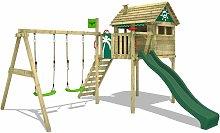 FATMOOSE Parque infantil de madera FunFactory con