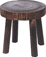 FDKJOK Taburete de madera maciza, patas redondas,