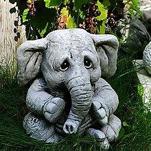 FDSJKD Decoración de jardín Estatua de Elefante