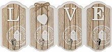 Feelinko Colgador de llaves de madera (blanco_Love)