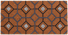 Felpudo con motivos de azulejos de cemento 30x60