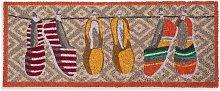 Felpudo de colores con motivos de alpargatas 75x30
