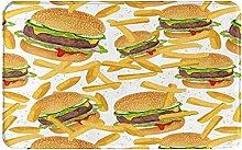 Felpudo, hamburguesas fritas, ropa de cama 3D
