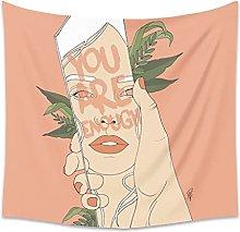 FENGKQ tapizPersonalidad Tapiz de Pared Mujer