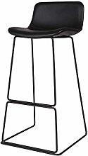 FENXIXI Taburete de bar negro – Silla de bar de