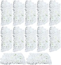 Fetcoi 12 piezas de flores artificiales para