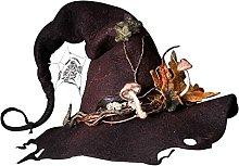 Fiesta de Halloween Sombreros de bruja de fieltro,
