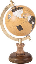 Figura de globo terráqueo con mapamundi Alt.23