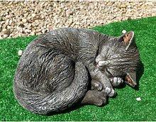 Figura de piedra Decorativa Gato Durmiendo 28x12