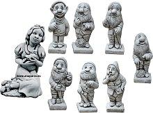Figura decorativa Blancanieves y 7 Enanitos en
