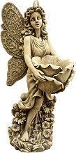Figura decorativa Hada en hormigón-piedra para el