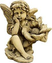 Figura decorativa Hada Pequeqa en hormigón-piedra