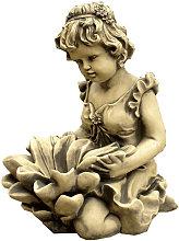Figura decorativa Niña Nenufar Surtidor Fuente en