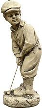 Figura decorativa Niño Golf en hormigón-piedra