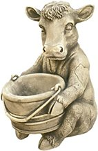 Figura decorativa Vaca Lechera en hormigón-piedra
