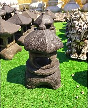Figura Linterna Redonda Baja Oriental de Piedra