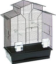 FLAMINGO Jaula para pájaros Numfor negro 52x30x61
