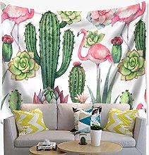 Flamingo Tapiz Paño de Pared Cactus Verde