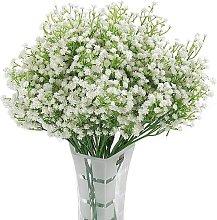 Flor de seda blanca artificial Gypsophila 12pc