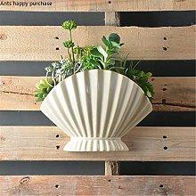 Florero de pared vitrina de pared de cerámica