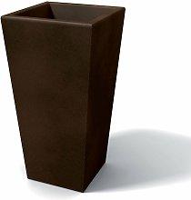 Florero moderno rectangular en resina H 105 Bronce