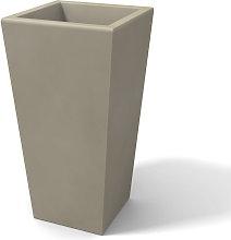 Florero moderno rectangular en resina H 65 Beige