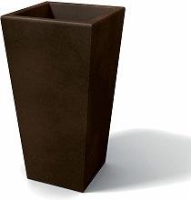 Florero moderno rectangular en resina H 90 Bronce
