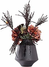 Flores Arreglo floral de flor seca en florero,