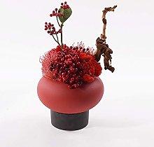 Flores Arreglo floral de flores rojas secas en