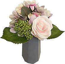 Flores artificiales decorativas de hortensias