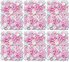 Flores de pared de 6 piezas de flores artificiales