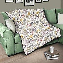 Flowerhome Colcha multicolor de seta para cama o