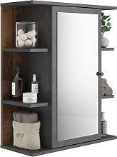 Fmd armario de cuarto de baño con espejo color