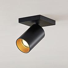 Foco Brinja, GU10, negro, 1 luz, cuadrado