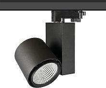 Foco carril DOMO OSRAM LED, 30W, negro, CRI