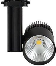 Foco de Carril LED 30W G8002-B Negro Luz Cálida