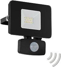 Foco de exterior LED Faedo 3, sensor, negro, 10W