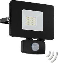 Foco de exterior LED Faedo 3, sensor, negro, 20W