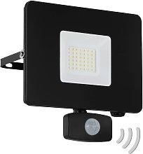 Foco de exterior LED Faedo 3, sensor, negro, 30W