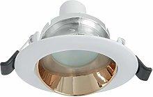 Foco de luz LED orientable 8 W GU10 empotrable 75