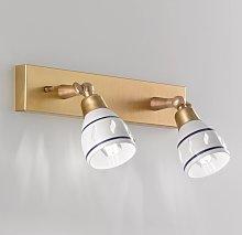 Foco de pared Bassano, 2 luces, latón