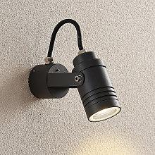 Foco de pared exterior Galina gris oscuro, 15,4 cm