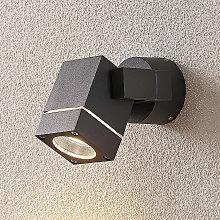Foco de pared exterior Kavuna gris IP54 angular