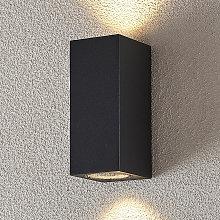 Foco de pared exterior Lavina gris GU10 2 luces