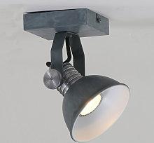 Foco de pared LED Brooklyn, 1 luz, gris